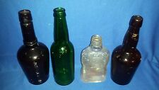 4 Vtg Beer-Whisky-Alcohol Pa BOTTLE lot-John Wyeth-ABC-Schmidt-Golden Wedding