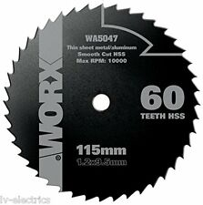METAL CUTTING DISC BLADE FOR WORX WX429L CIRCULAR SAW WA5047 115MM 60T HSS US