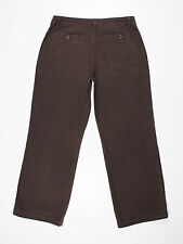 Next womens Size 12 short leg 28L loose wide straight brown jeans