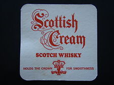 SCOTTISH CREAM SCOTCH WHISKY HOLDS THE CROWN FOR SMOOTHNESS COASTER