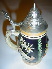 West Germany Beer Lidded Stein Mug