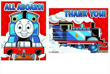 THOMAS THE TANK ENGINE Party INVITES and THANK YOUS (8) ~ Birthday Supplies Card