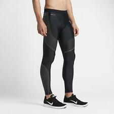 NIKE POWER SPEED TIGHTS COMPRESSION PANTS SIZE MEN L NWT BLACK SILV 717750-010