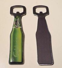 "New Look 4.75"" long Metal CARLSBERG Beer Bottle Opener & Fridge Magnet 2010 RARE"