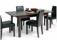 STYLISH EXTENDING RECTANGULAR MODERN DINING TABLE 120-160cm / 47-63'' DARK BROWN