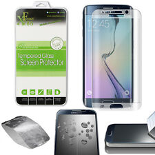 FULL CURVED TEMPERED GLASS SCREEN PROTECTOR FOR SAMSUNG GALAXY S6 EDGE - SILVER