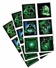 3 NEW SHEETS GREEN Lantern Scrapbook Stickers Super Hero Ryan Reynolds