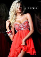 SHERRI HILL 3868 Orange Jeweled Short Prom Dress (Worn 1x) Size 4 (alt)