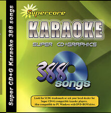 Karaoke Super CD+G DVD Supercore 388 Tracks New in Case with Song Book