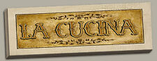 Vintage Spanish Cucina Sign; Kitchen Decor; One 20 x 8 Stretched Canvas