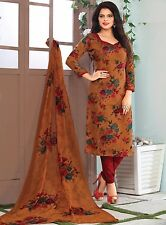 Elegant Crepe Printed Unstitched Dress Material Suit D.No SV1127