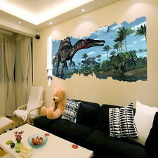 New DIY Jurassic World Dinosaur Scroll Wall Sticker Decals Kids Room Decoration