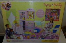 HAPPY FAMILY Barbie Doll NURSERY PLAYSET 21+pcs for Midge, Ryan, Alan & baby 2b