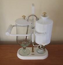 PERCO RETRO 800 ML BALANCE COFFEE MAKER BELGIUM WHITE PORCELAIN VGC RARE
