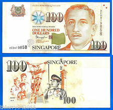 Singapore 100 Dollars 2013 2 triangles under Youth Asia Free Shipping World