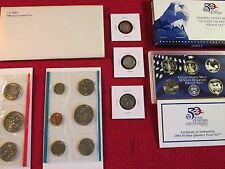 COIN LOT 90 %1945 SILVER LIBERTY DIME+ WWII 1943 WHEAT+1980 MINT +PROOF SET #B21
