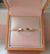 diamond solitaire engagement ring Hallmarked 9 Carat Yellow Gold