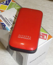 Alcatel 1035x 10.35 Mobile Phone 2G Red Flip Clam Shell Virgin Network NEW