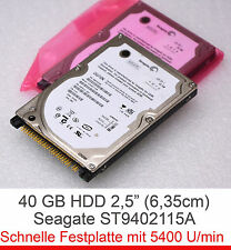 "2,5"" 6,4cm IDE 40 GB NOTEBOOK FESTPLATTE HDD SEAGATE ST940210A - DELL 9CV011-501"