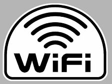 ORDINATEUR WIFI RESEAU SANS FIL CYBER 100mmX90mm AUTOCOLLANT STICKER WA028