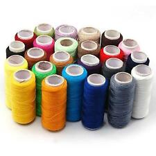 24 COLORS SEWING ALL PURPOSE 100% Pure COTTON THREAD HOME DIY Sewing Notions