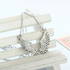 Gift Fashion Silver Plated Angel Wings Shape Pendant Necklace 45cm
