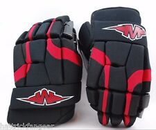 "MISSION HOCKEY SOLDIER SENIOR PROTECTIVE ICE/ROLLER HOCKEY GLOVE 15"" BLK/RED"