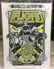 "Red Bull Art of Flight Print Poster Hand Screened Red Bull 30"" x 22"" Yellow Rice"