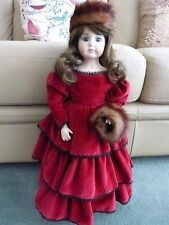 "OOAK Musical Porcelain Doll with Handmade Clothes 21"" High"