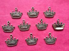 Tibetan Silver Small Crown Charms #2 - 10 per pack fairytale themed projects