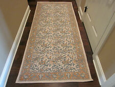 Pottery Barn Outlet Kalamkari Cotton Printed Dhurrie Excess Rug 3x7 Terra Cotta