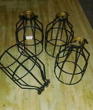 4 Electrical Supply cage trouble light industrial wire lamp shade pendant LOT