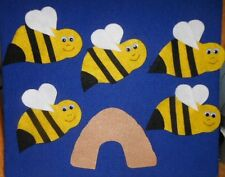 Five Buzzing Bees Felt Set for the Flannel Board