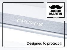 Edelstahlfolie Einstiegsleisten Laschen auf Schwellen Citroen C4 CACTUS