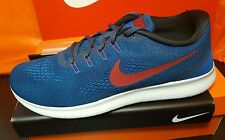 New NIKE FREE RN MEN'S RUNNING SHOE, BLUE/GYM RED/BLACK, 831508 406 size 12
