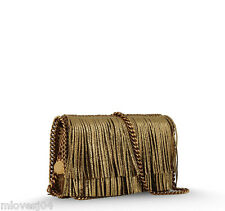 Stella McCartney Gold Fringe Falabella Across Body Chain Clutch Bag BNWT £850