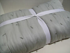 Pottery Barn Gray Cotton Silk Jersey Full Queen Quilt New