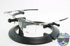 Oakley RX Eyeglasses OX3187-0353 CONDUCTOR 0.5 Polished Chrome Frame 53-18-137]
