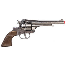 "NEW Old West Cowboy Filigreed Revolver 11"" Diecast Replica 12 Shot Caps Gun"
