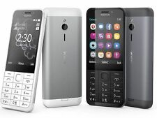 Brand New Nokia 230 **Dual SIM** Unlocked Mobile Phone - White/Silver GENUINE