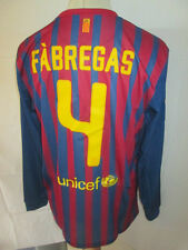Barcelona 2011-2012 Fabregas 4 Home Football Shirt Long Sleeves BNWT Large /sh