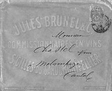 30 SAINT-GILLES ENVELOPPE JULES BRUNEAU COMMISSIONNAIRE EN VINS 1902 ?