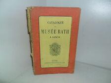 Catalogue du Musée Rath à Genève - vers 1880