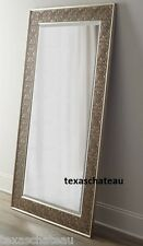 XL LARGE ~ ANTIQUE SILVER LACE ~ MIRROR FLOOR WALL DRESSING FULL LENGTH LEANING