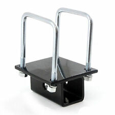 RV Bumper 4 inch Square Receiver Adapter 2'' Hitch Mount Bike Rack Cargo Carrier