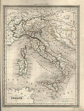 VUILLEMIN - RARA MAPPA Autentica ante 1860; ITALIA