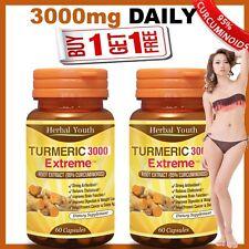 120 x TURMERIC PILLS 95% CURCUMINOID LONGA LINN FRESH TUMERIC 3000 ANTIOXIDANT
