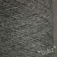 PURE SHETLAND WOOL FLANNEL GREY 500g CONE 10 BALL 3 4 PLY KNITTING  WEAVING YARN