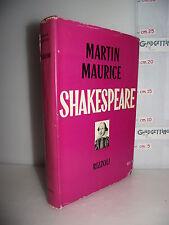 LIBRO Martin Maurice SHAKESPEARE 1^ed.1955 Traduzione Luciana Lombardo Frezza