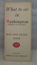 What To See In Washington District of Columbia Map & Guide Book AMOCO 1940